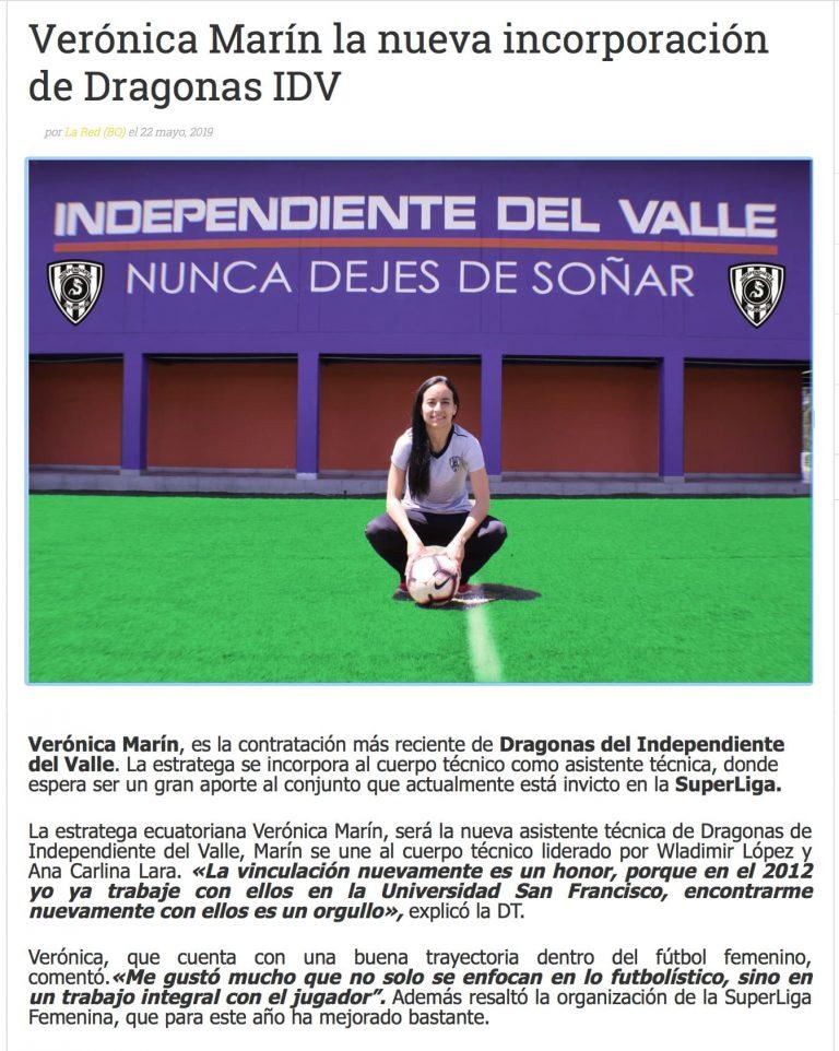 2019 06 03 Veronica Marin Independiente del Valle Salle de presse MBP